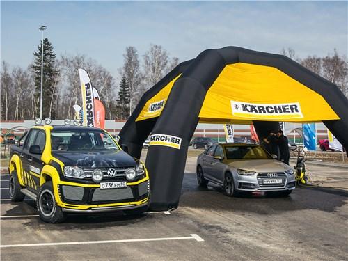 Блестящий внешний вид автомобилей обеспечил партнер теста – бренд Karcher