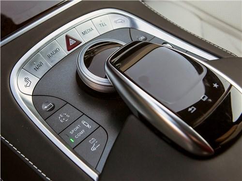 Mercedes-Benz S500 E Plug-In Hybrid 2015 органы управления на центральном туннеле