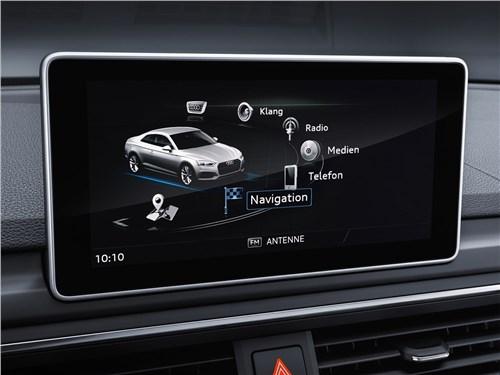 Предпросмотр audi a5 coupe 2017 монитор