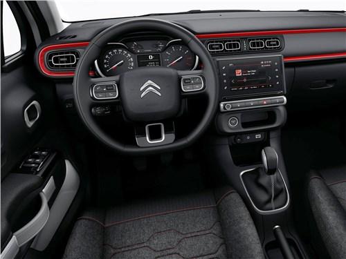 Европейский подход (Citroen C2, Citroen C3, Fiat Grande Punto, Ford Fiesta, Hyundai Getz, Nissan Micra, Opel Corsa, Seat Ibiza, Skoda Fabia, Volkswagen Polo) C3 - Citroen C3 2017 салон