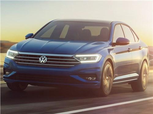 Четыре двери Jetta - Volkswagen Jetta 2019 вид спереди