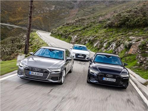 Audi A6 2019 вид спереди