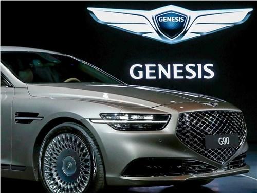 Предпросмотр genesis g90 2019 вид спереди