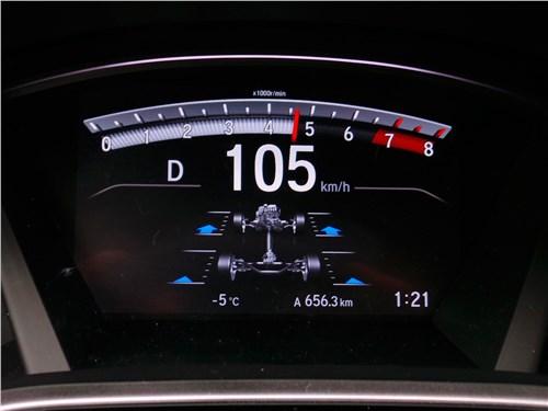 Распределение момента по осям и колесам демонстрирует не только Honda CR-V (на фото), но и Nissan X-Trail, Toyota RAV4 и другие модели кроссоверов