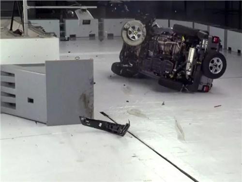Jeep Wrangler не будут дорабатывать после неудачного краш-теста