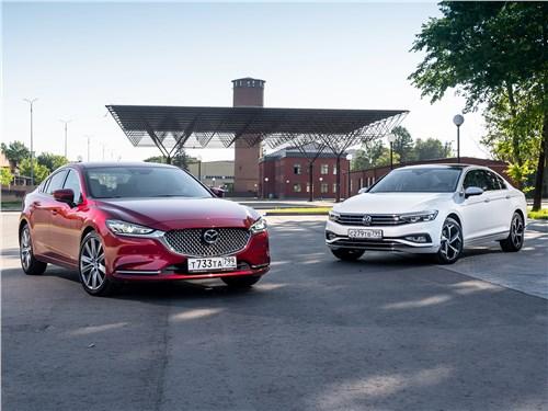 Mazda 6 - сравнительный тест mazda 6 2.5 turbo и volkswagen passat 2.0 tsi как красное и белое, или истина в вине