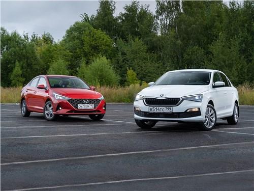 Hyundai Solaris - сравнительный тест hyundai solaris (2020) и skoda rapid (2020) в стремлении изменить имидж