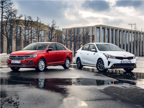 Volkswagen Polo Sedan, KIA Rio - kia rio (2020) и volkswagen polo (2020) не сошлись во взглядах на usb