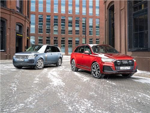 Audi Q7, Land Rover Range Rover - сравнительный тест kia sorento (2021) и skoda kodiaq (2017) в схватке за покупателей