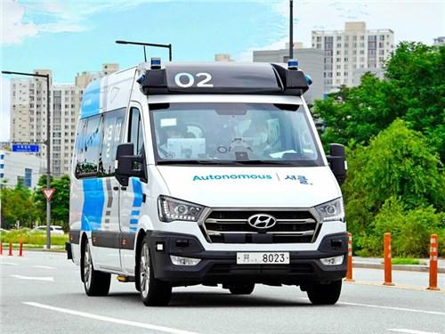 Новость про Hyundai - Hyundai запустит беспилотные маршрутки в Корее