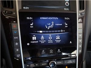 Infiniti Q50S Hybrid 2013 центральная консоль
