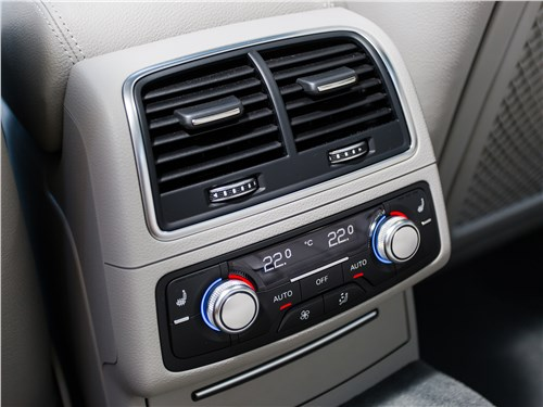 Audi A6 2015 климат для пассажиров второго ряда
