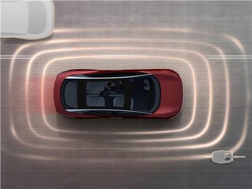 Предпросмотр volkswagen id vizzion concept 2018 вид сверху