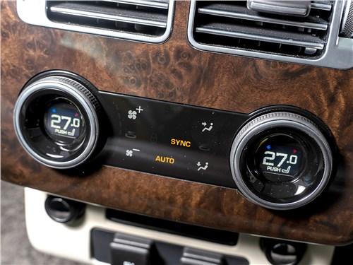 Range Rover LWB 2014 управление климатом