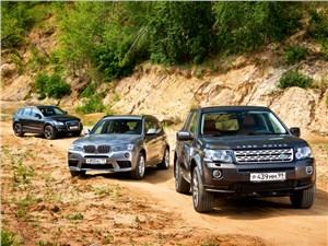 Land Rover Freelander, BMW X3, Audi Q5