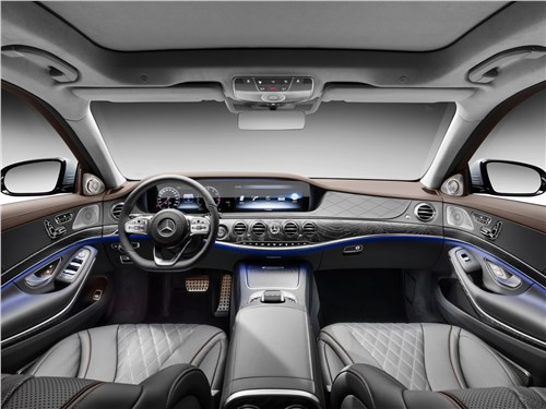 Мечты сбываются (Audi A8,BMW 7 Series,Jaguar XJ,Lexus LS,Mercedes-Benz S-Klasse,Volkswagen Phaeton) S-Class - Mercedes-Benz S-Class 2018 салон