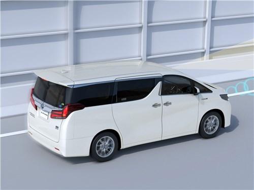 Toyota Alphard 2018 вид сзади сбоку