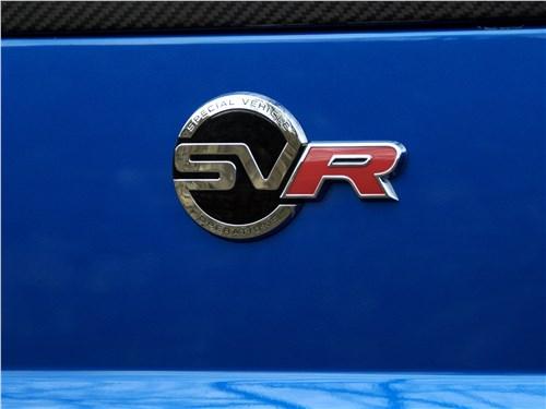 Land Rover Range Rover Sport SVR 2018 логотип