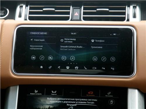 Land Rover Range Rover Autobiography 2018 сенсорный экран