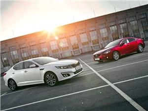 Mazda 6, KIA Optima - сравнительный тест mazda 6 и kia optima