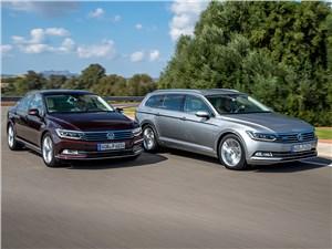 Volkswagen Passat 2015 седан и универсал вид спереди