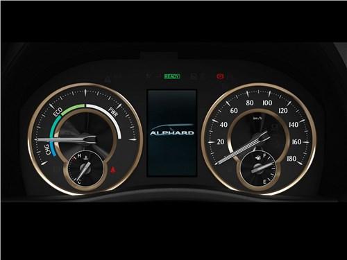 Toyota Alphard 2018 приборная панель