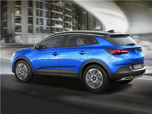 Opel Grandland X 2018 вид сбоку сзади