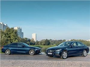 BMW 3 series, Mercedes-Benz C-Class - mercedes-benz c-class и bmw 3-й серии. игра мускулами
