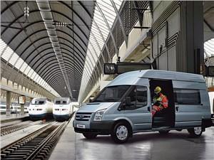 Предпросмотр ford tranzit 2006 микроавтобус средняя база высокая крыша