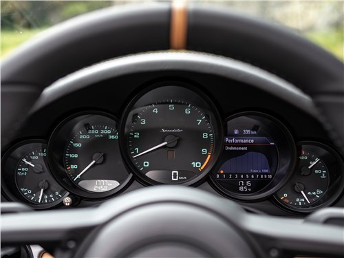 Предпросмотр porsche 911 speedster 2019 приборная панель