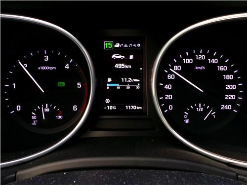 Hyundai Santa Fe 2015 приборная панель