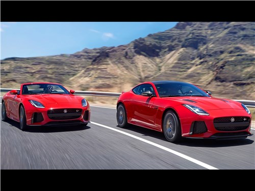 Предпросмотр jaguar f-type 2018 на дороге