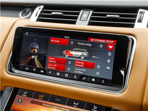 Land Rover Range Rover Sport SVR 2018 монитор