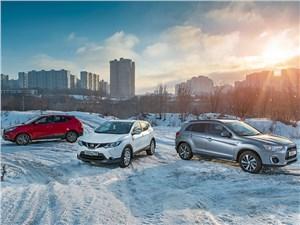 Hyundai IX35, Mitsubishi ASX, Nissan Qashqai - сравнительный тест nissan qashqai, hyundai ix35 и mitsubishi asx. восточная угроза