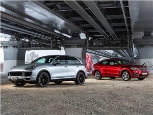 BMW X6, Porsche Cayenne S - сравнительный тест bmw x6 и porsche cayenne s. битва титанов