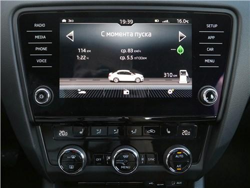 Skoda Octavia 2017 центральная консоль