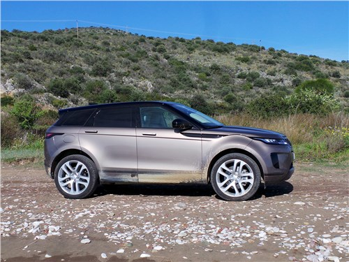 Land Rover Range Rover Evoque 2020 вид сбоку
