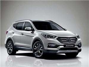 Новый Hyundai Santa Fe - Hyundai Santa Fe 2015 вид спереди