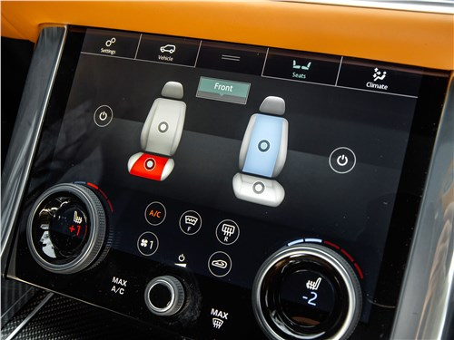 Land Rover Range Rover Sport SVR 2018 центральная консоль