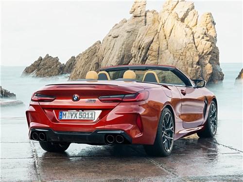 Предпросмотр bmw m8 competition convertible 2020 вид сзади