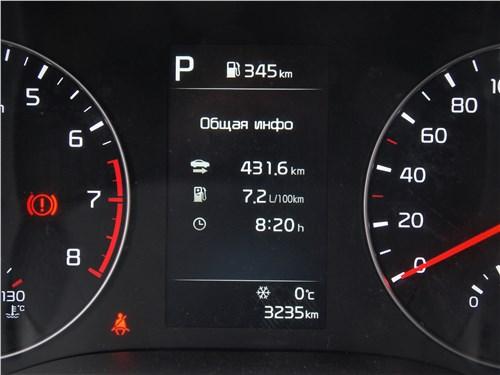 Kia Rio X (2020) приборная панель