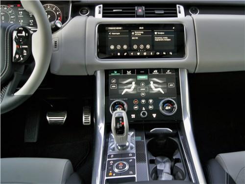 Land Rover Range Rover Sport SVR (2018) центральный тоннель