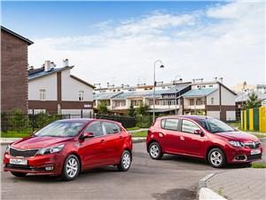 KIA Rio, Renault Sandero - kia rio 2015 и renault sandero 2014 предъявите аргументы!