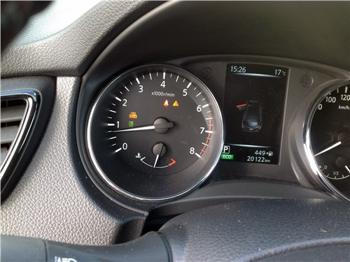 Nissan Qashqai 2018 приборная панель