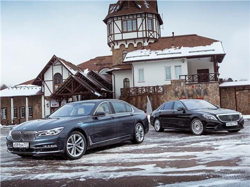 BMW 7 series, Mercedes-Benz S-Class AMG - сравнительный тест. bmw 7-й серии и mercedes-benz s-class. на круги своя