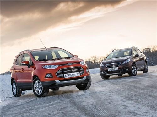 Ford EcoSport, Peugeot 2008 - сравнительный тест: ford ecosport 2013 и peugeot 2008 2013. мы тигрята, а не киски