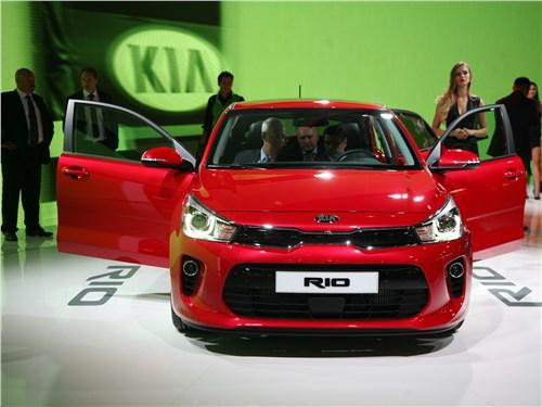 Стоимости соответствуют (Chevrolet Aveo,Fiat Albea,Hyundai Solaris,Kia Rio,Renault Logan,Volkswagen Polo) Rio - Kia Rio 2017 вид спереди