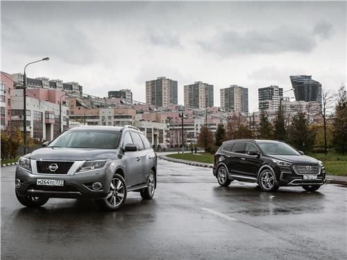 Hyundai Grand Santa Fe - сравнительный тест hyundai grand santa fe и nissan pathfinder. в тяжелом весе