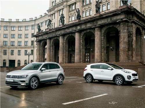 Volkswagen Tiguan - сравнительный тест: kia sportage 2016 и volkswagen tiguan 2017. попробуй, догони!
