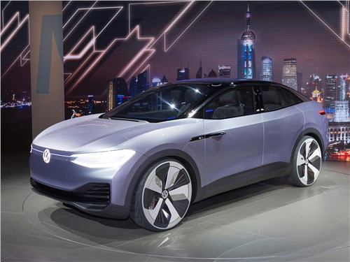 Новый Volkswagen ID Crozz - Volkswagen ID Crozz Concept 2017 Подключение к розетке